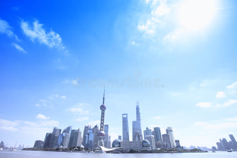 Download Panorama View Of Shanghai Business Area Stock Image - Image: 34602551