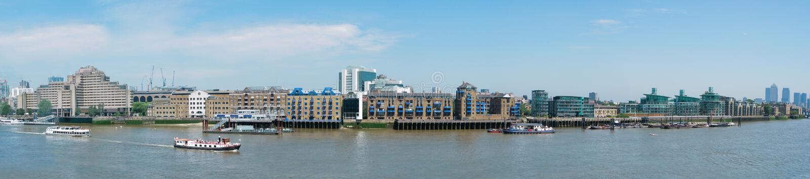 Panorama view of Thames river in London royalty free stock photo