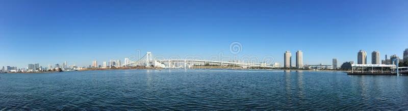 Panorama view of Tokyo Bay in Tokyo, Japan royalty free stock photo