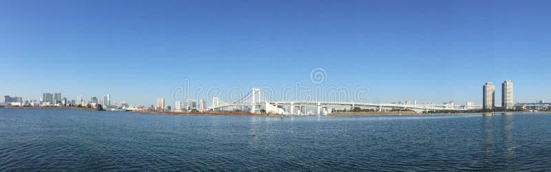 Panorama view of Tokyo Bay in Tokyo, Japan stock photo