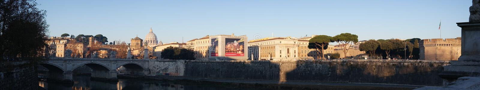 Panorama view on Vatican City royalty free stock photography
