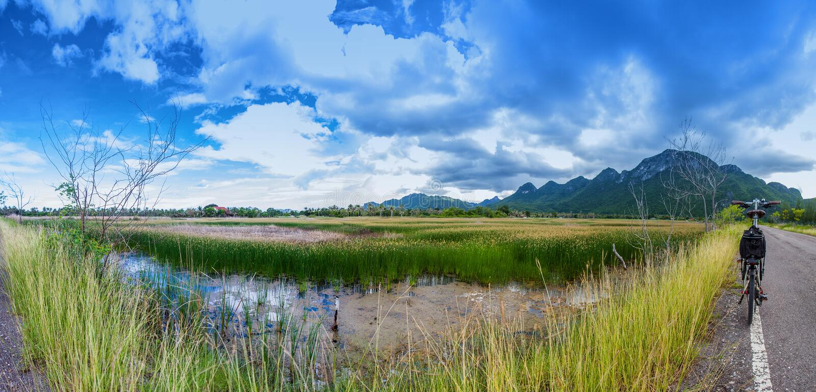 Panorama the view of 300 yod Thailand stock photography