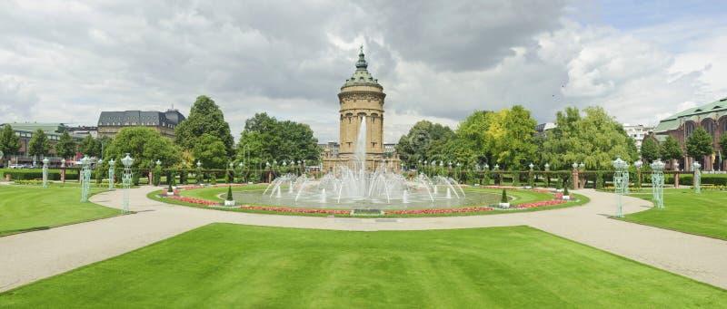Panorama Views Of City Landmark In Mannheim. Royalty Free Stock Photos