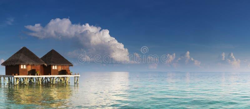 panorama villas water στοκ φωτογραφίες