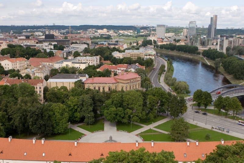 panorama Vilnius zdjęcia stock