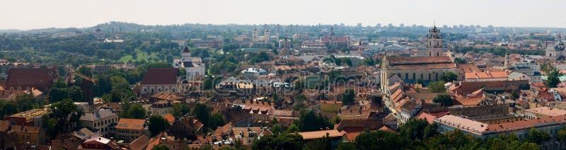 Panorama Vilnius foto de stock royalty free