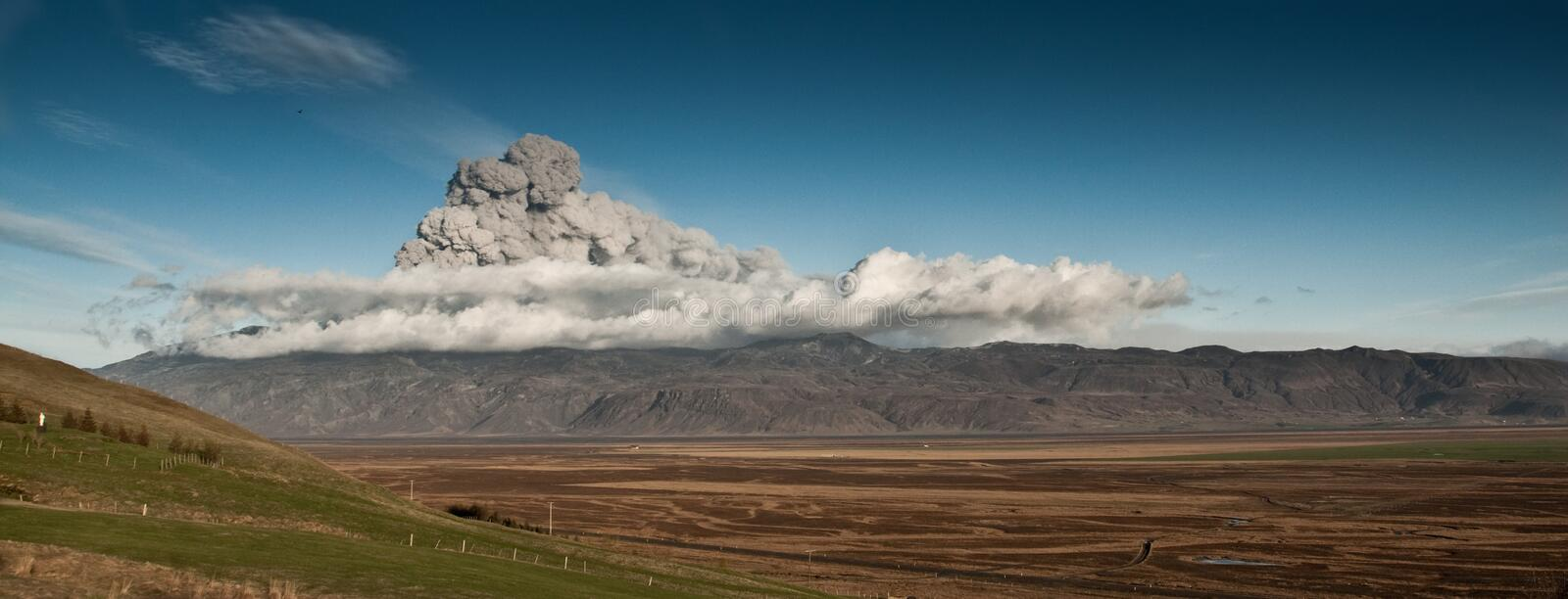 Download Panorama of volcan stock photo. Image of dark, earth - 14268466