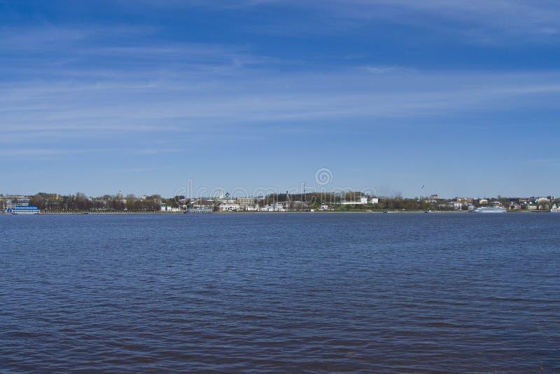 Panorama Volga rzeka obraz royalty free