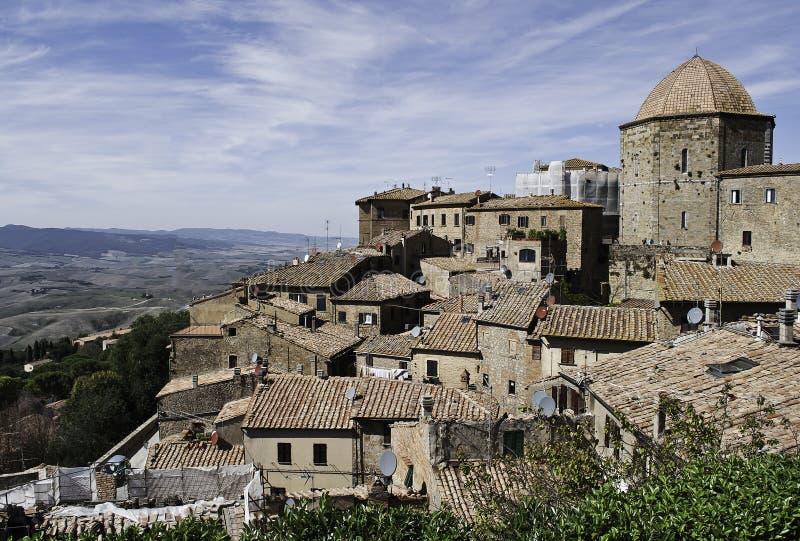 Panorama Volterra e Toscânia fotos de stock