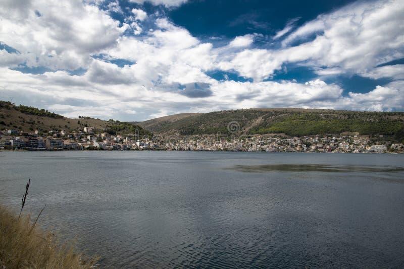 Panorama von Amfilochia stockfoto