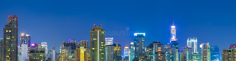 Panorama von Bangkok-Stadt. lizenzfreies stockbild