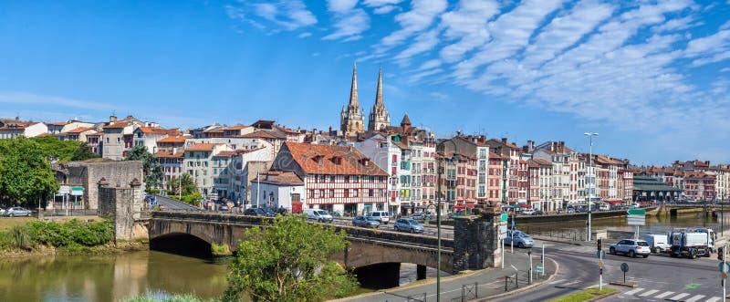 Panorama von Bayonne stockbild