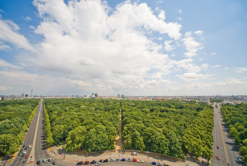 Panorama von Berlin stockbilder