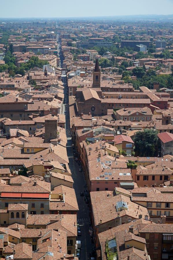 Panorama von Bologna stockbild