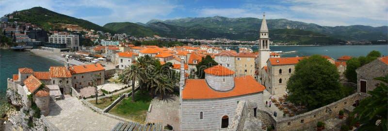 Panorama von Budva. Montenegro. lizenzfreie stockfotos