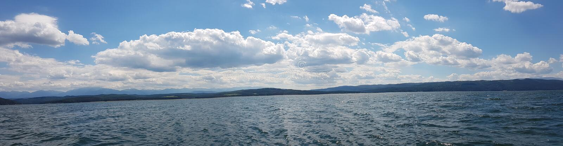 Panorama von einem See in Sofia stockfoto