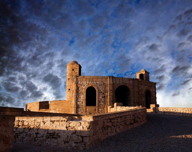 Panorama von Essaouira-Festung, Marokko lizenzfreies stockfoto