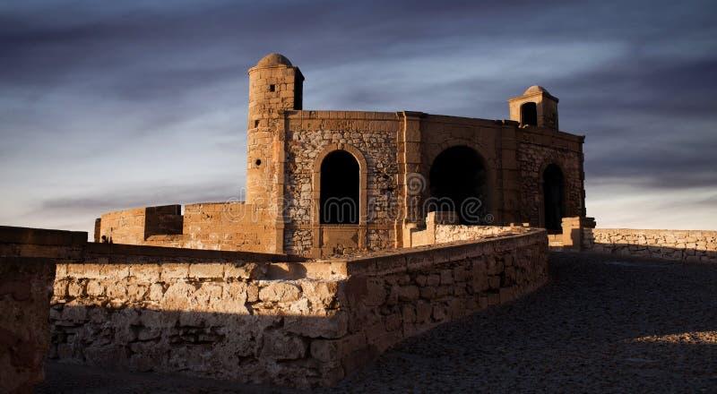Panorama von Essaouira-Festung, Marokko stockfotos