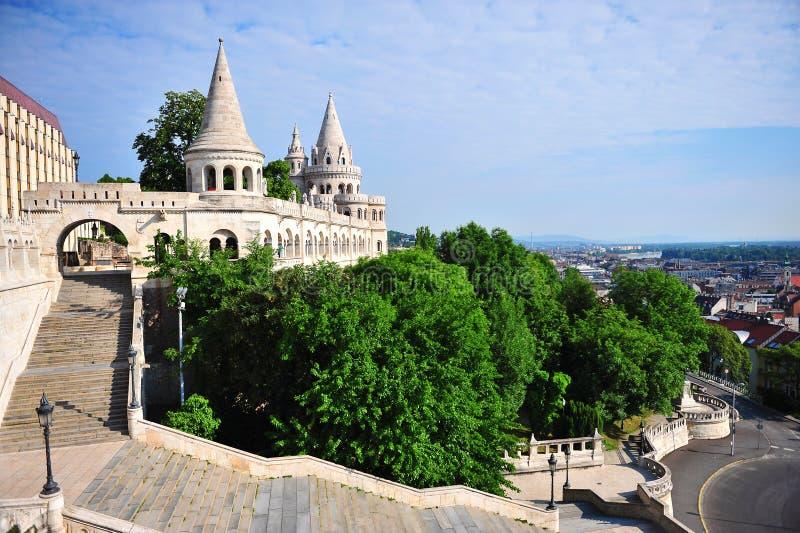 Panorama von Fisherman& x27; s-Bastion, Budapest stockfoto
