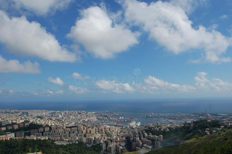 Panorama von Genua stockfoto