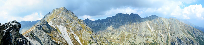 Panorama von hohem Tatras stockbild