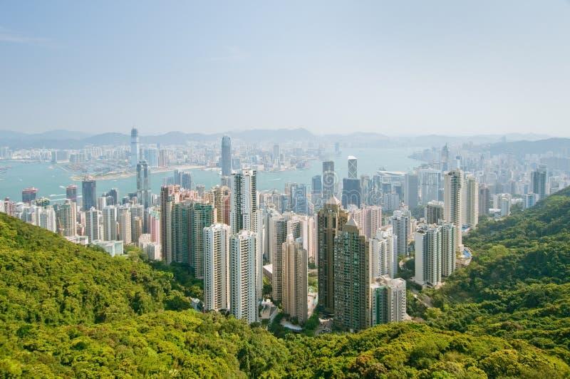 Panorama von Hong Kong stockfotografie