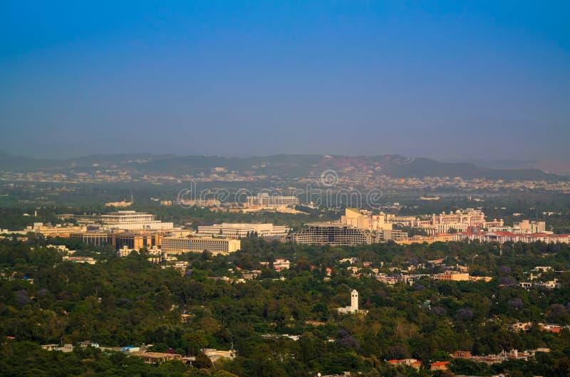 Panorama von Islamabad, Pakistan stockbild