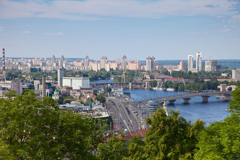 Panorama von Kiew, Ukraine. lizenzfreie stockbilder