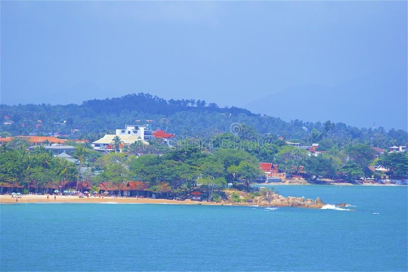 Panorama von Koh Samui-Insel, Thailand lizenzfreie stockfotografie