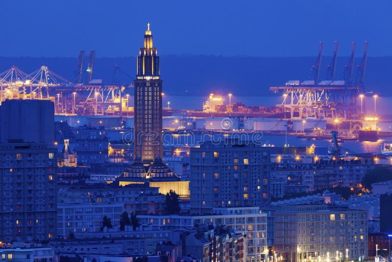 Panorama von Le Havre stockfotos