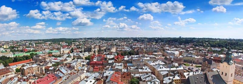 Panorama von Lemberg, Ukraine lizenzfreie stockfotos