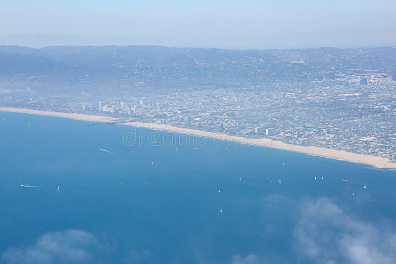 Panorama von Los Angeles und von Küste lizenzfreies stockbild