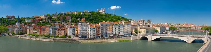 Panorama von Lyon stockbilder