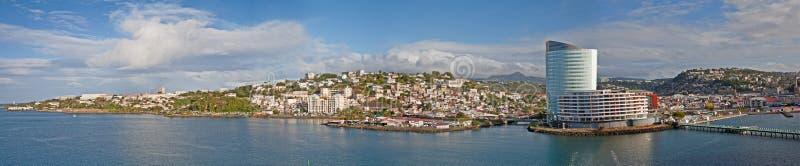 Panorama von Martinque stockbilder