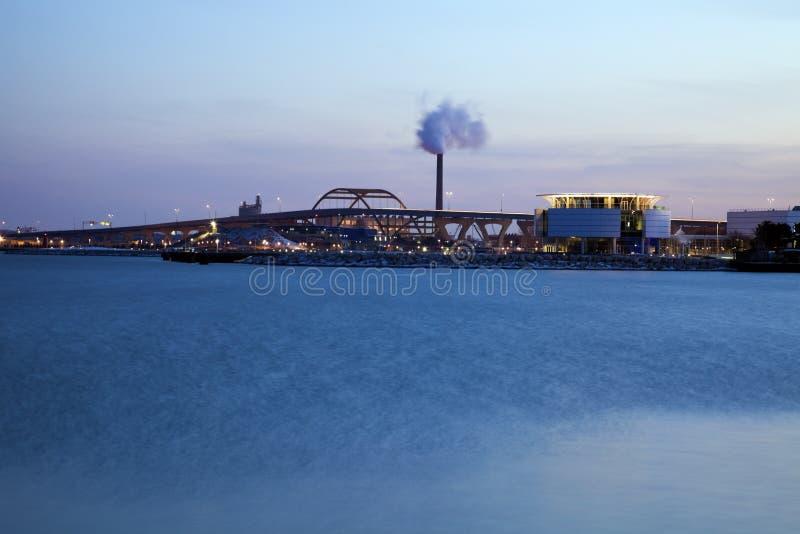 Panorama von Milwaukee stockfoto