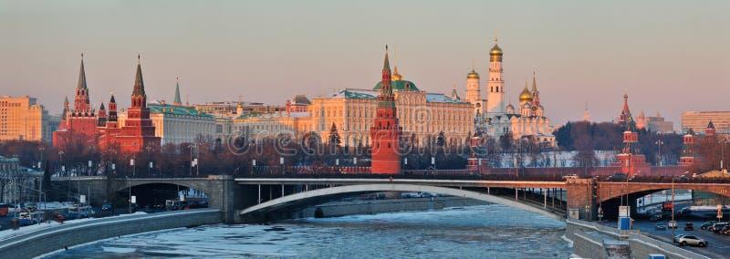 Panorama von Moskau der Kreml lizenzfreie stockfotos