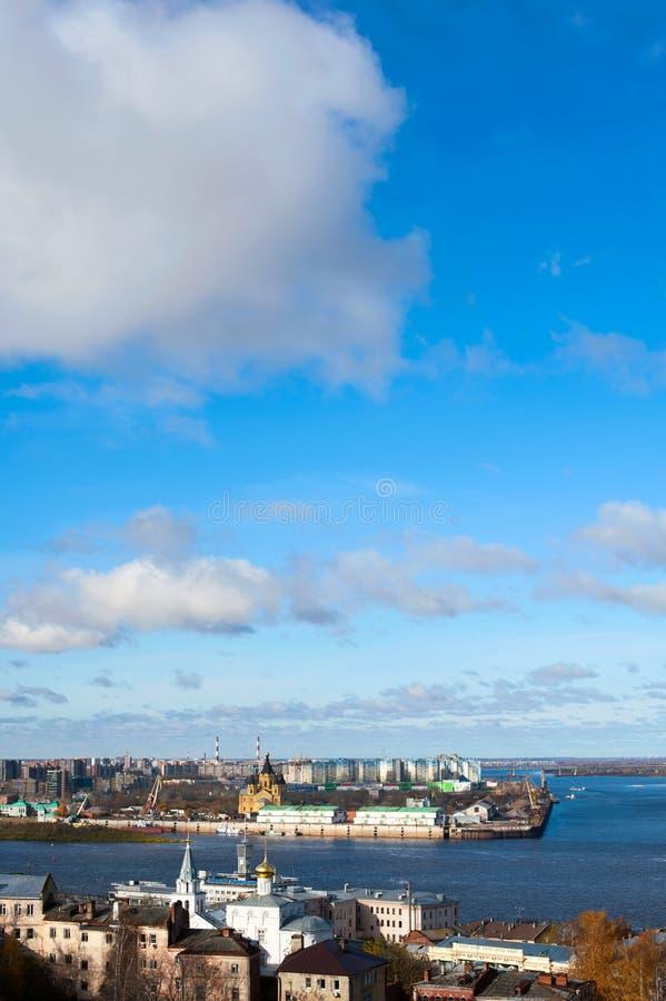 Panorama von Nischni Nowgorod lizenzfreie stockfotografie