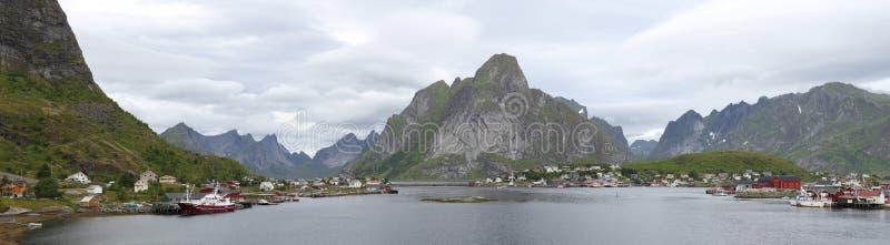 Panorama von Norwegen stockbilder