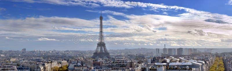 Panorama von Paris. lizenzfreie stockfotografie