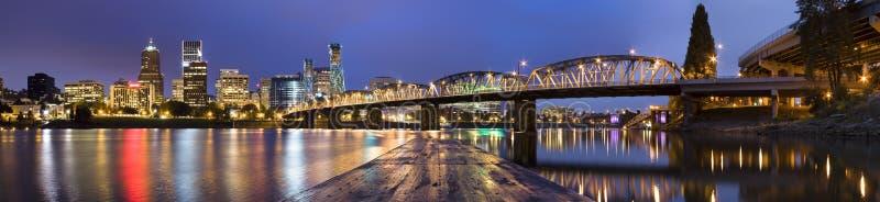 Panorama von Portland, Oregon, USA. lizenzfreie stockfotografie
