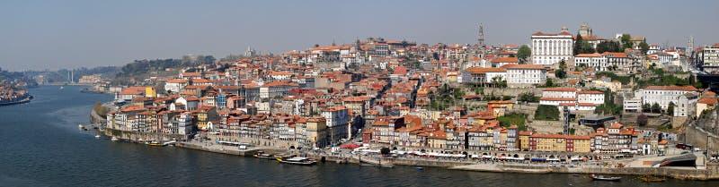 Panorama von Porto mit Fluss Duoro, Portugal. lizenzfreie stockfotografie