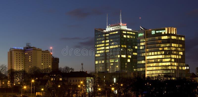Panorama von Poznan lizenzfreies stockbild