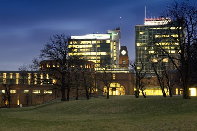 Panorama von Poznan in Polen lizenzfreies stockfoto