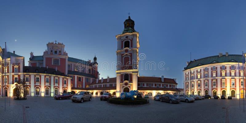 Panorama von Poznan in Polen stockfotografie