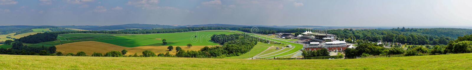 Panorama von prachtvollem Goodwood stockfotos