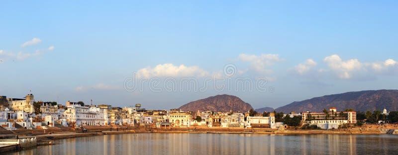 Panorama von Pushkar, Rajasthan, Indien. lizenzfreies stockfoto