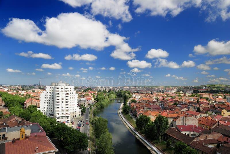 Panorama von Rathaus in Oradea lizenzfreies stockbild