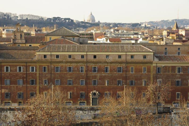 Panorama von Rom gesehen vom Aventine-Hügel lizenzfreie stockfotos