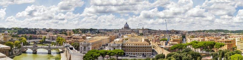 Panorama von Rom, Italien lizenzfreie stockfotos