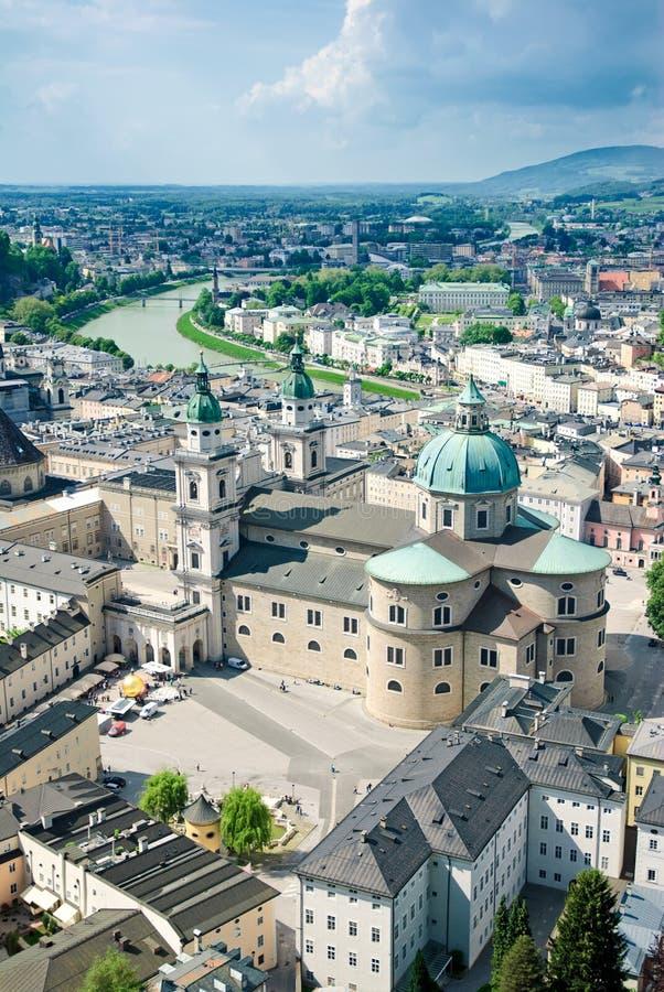 Panorama von Salzburg lizenzfreie stockfotos